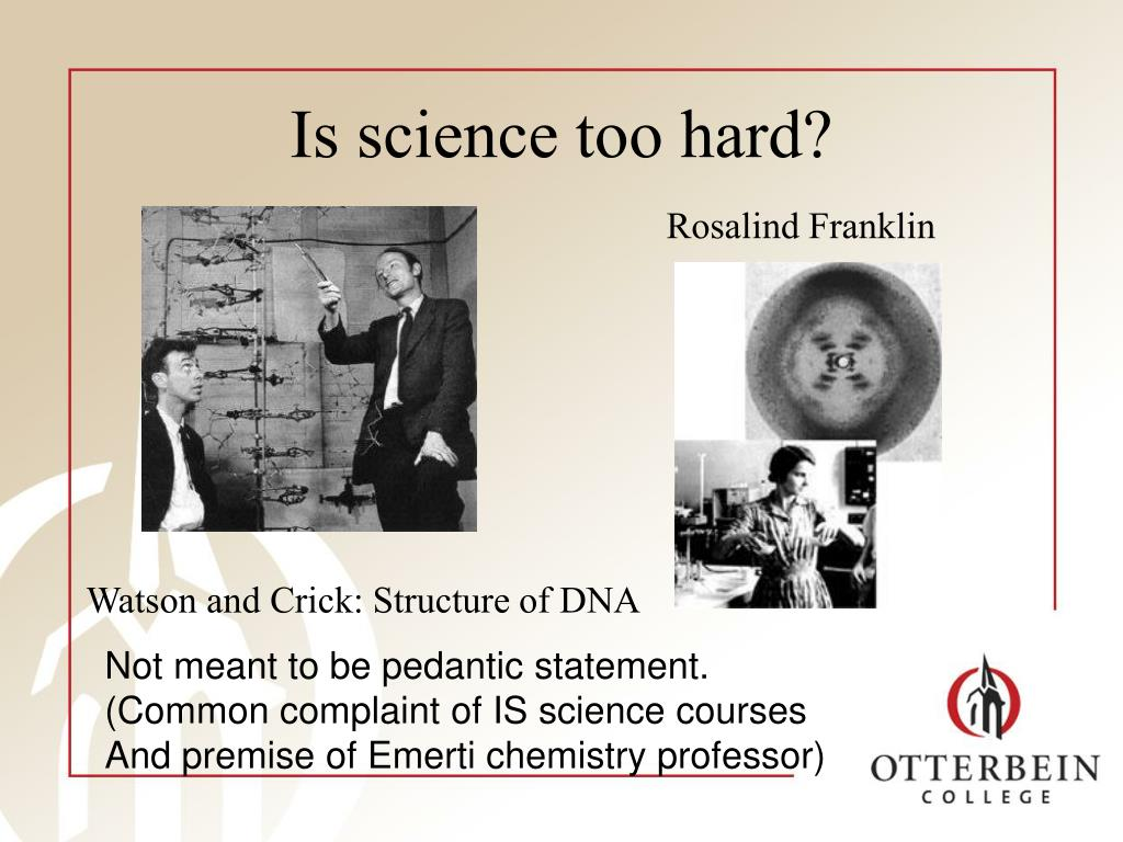Is science too hard?