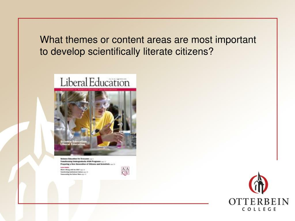 What themes or content areas are most important