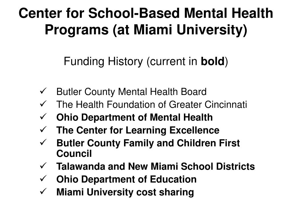 Center for School-Based Mental Health Programs (at Miami University)