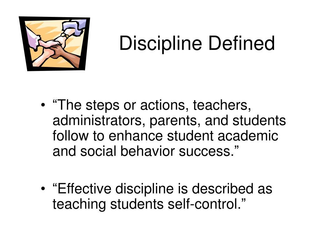 Discipline Defined