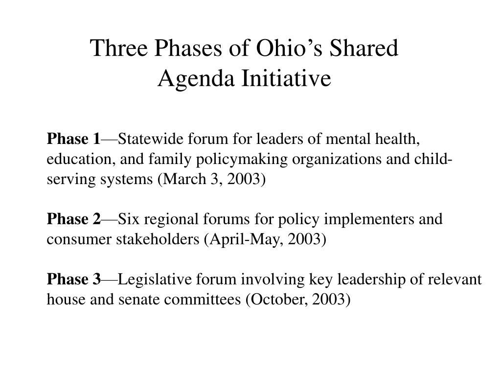Three Phases of Ohio's Shared