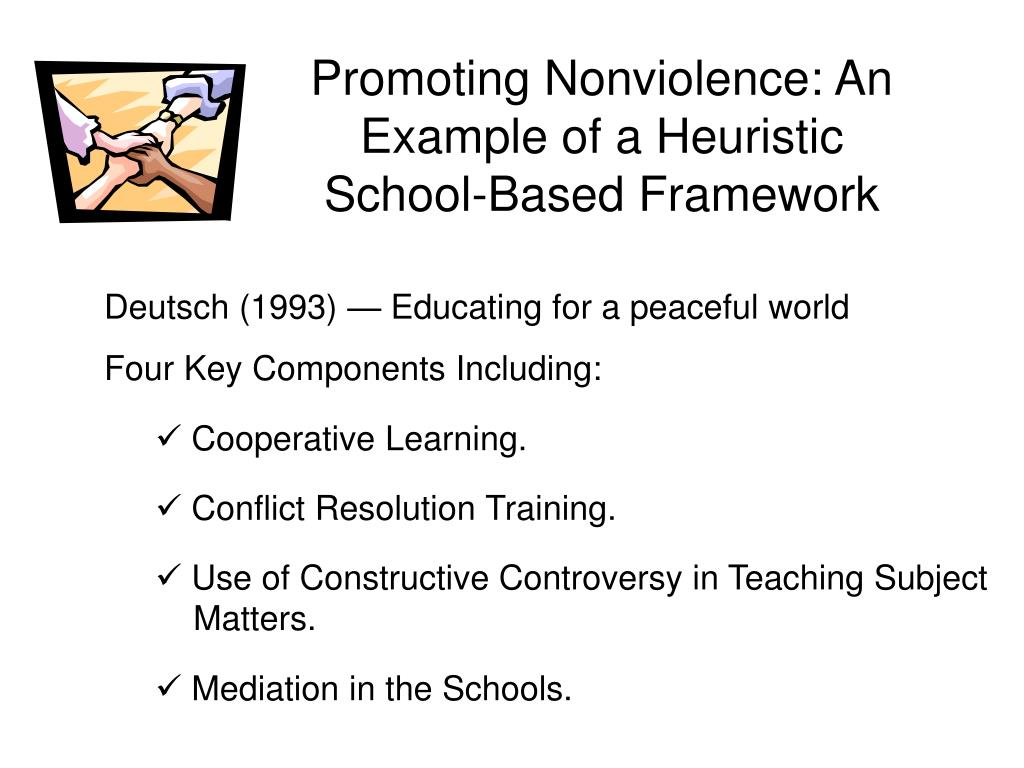 Promoting Nonviolence: An