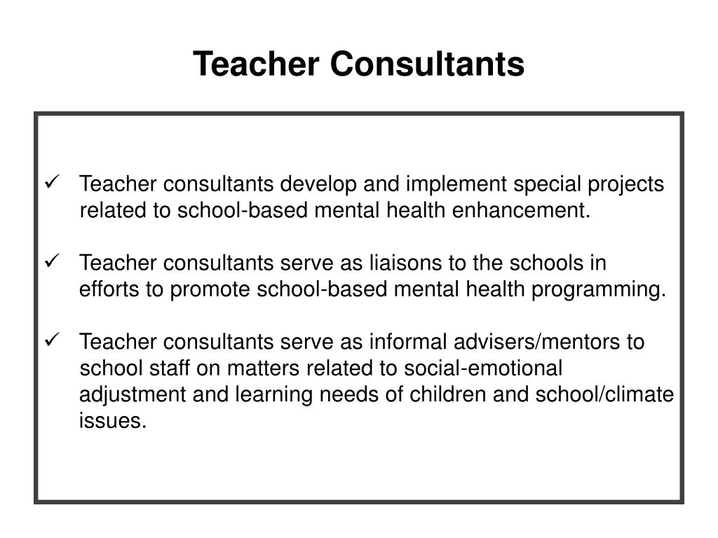 Teacher Consultants