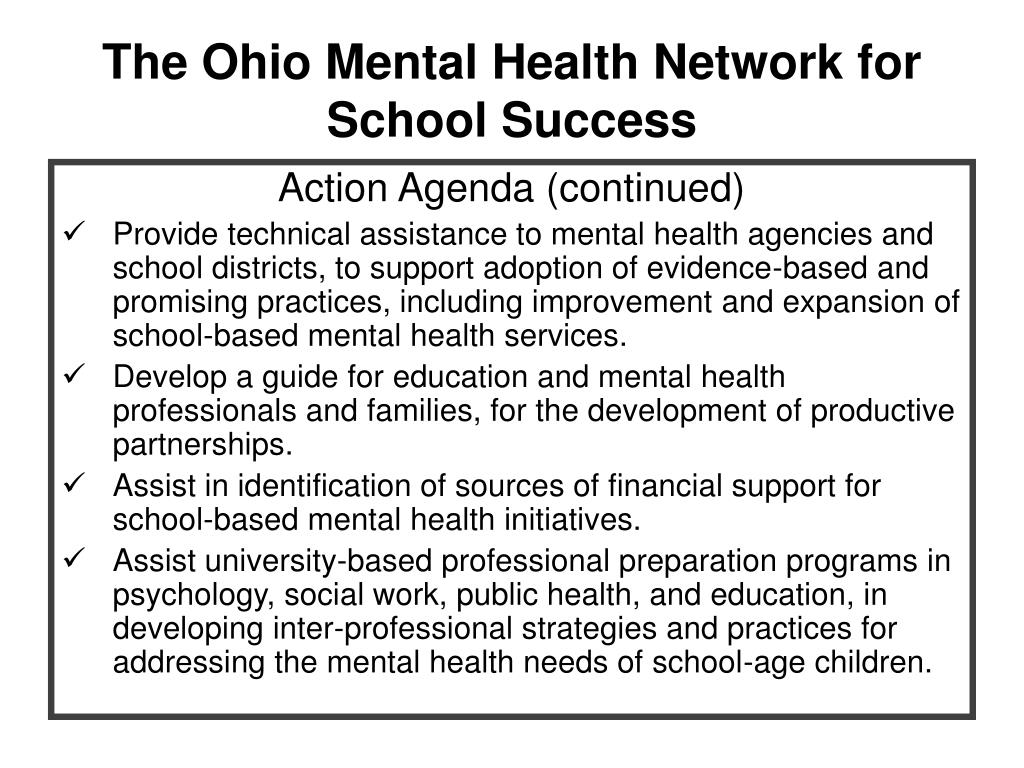 The Ohio Mental Health Network for School Success