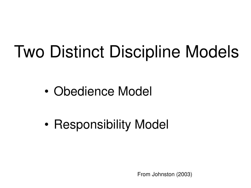 Two Distinct Discipline Models