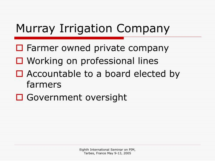 Murray irrigation company