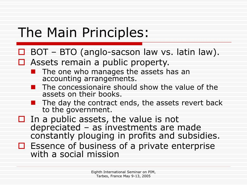 The Main Principles: