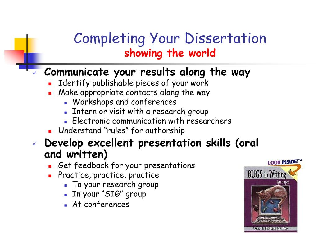 Completing Your Dissertation