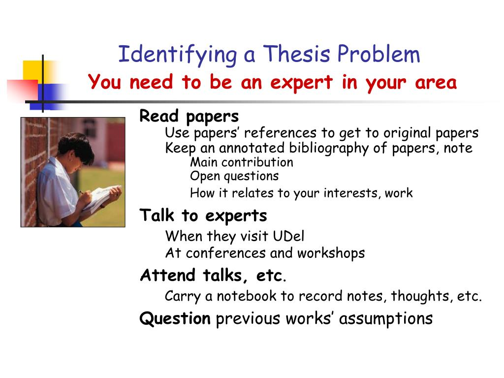 Identifying a Thesis Problem