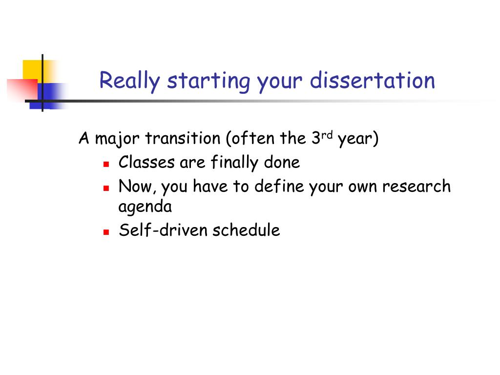 Really starting your dissertation