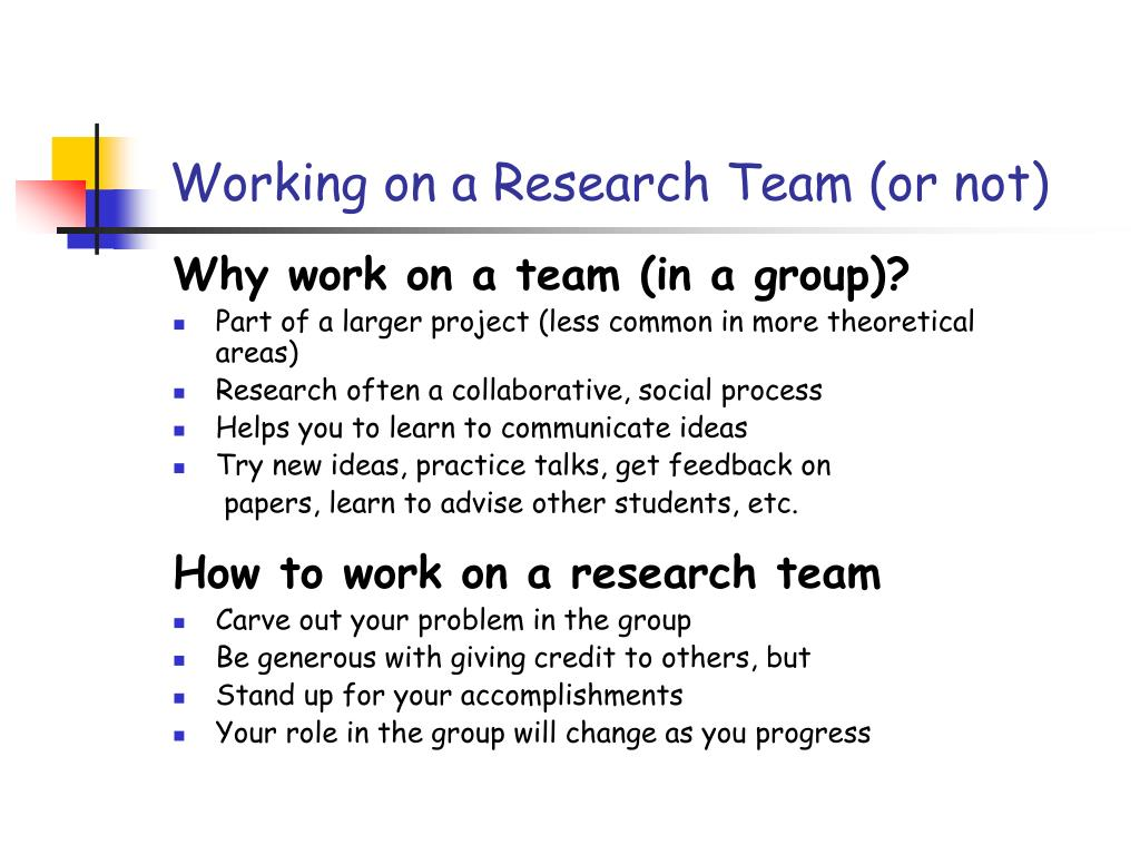 Working on a Research Team (or not)
