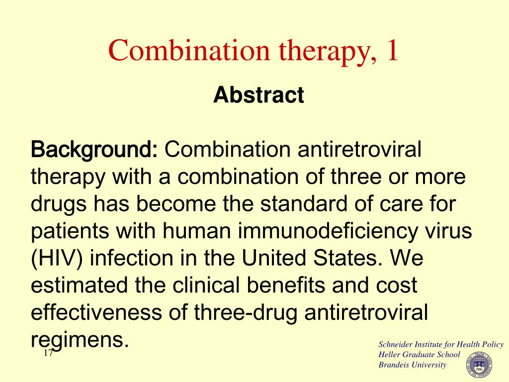 Combination therapy, 1
