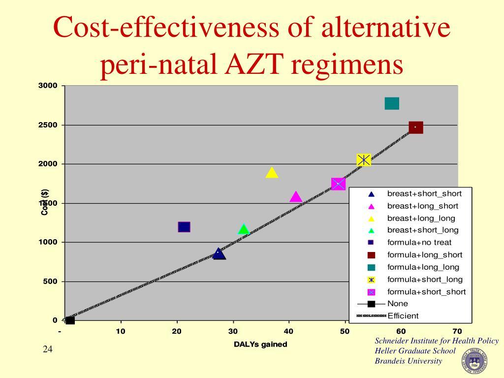 Cost-effectiveness of alternative peri-natal AZT regimens