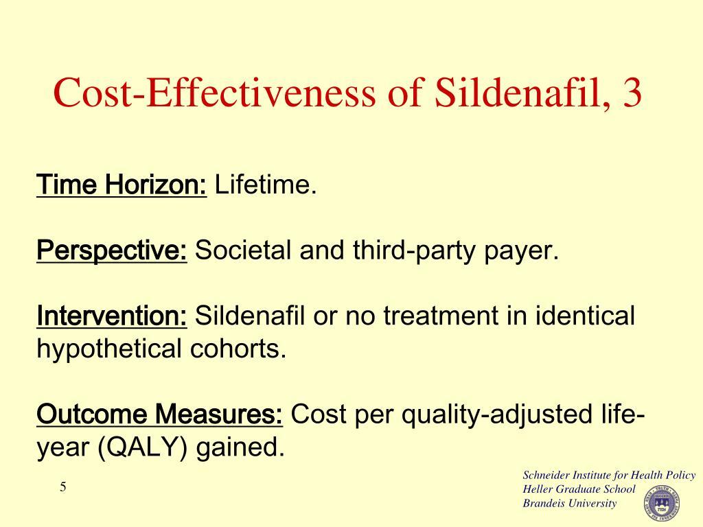 Cost-Effectiveness of Sildenafil, 3