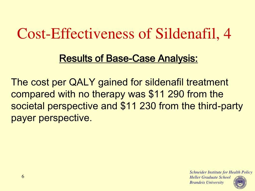 Cost-Effectiveness of Sildenafil, 4