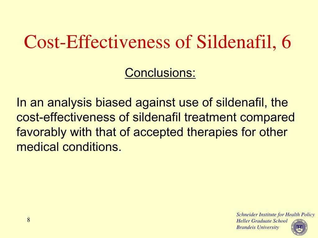 Cost-Effectiveness of Sildenafil, 6