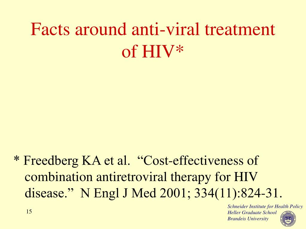 Facts around anti-viral treatment of HIV*
