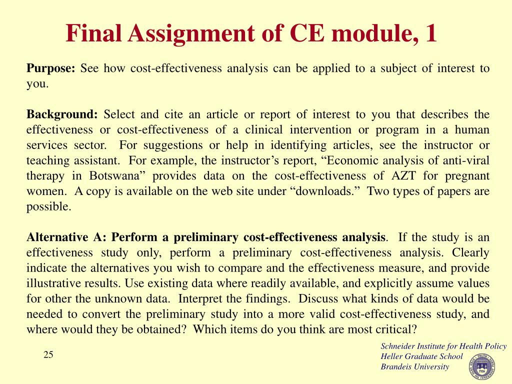 Final Assignment of CE module, 1