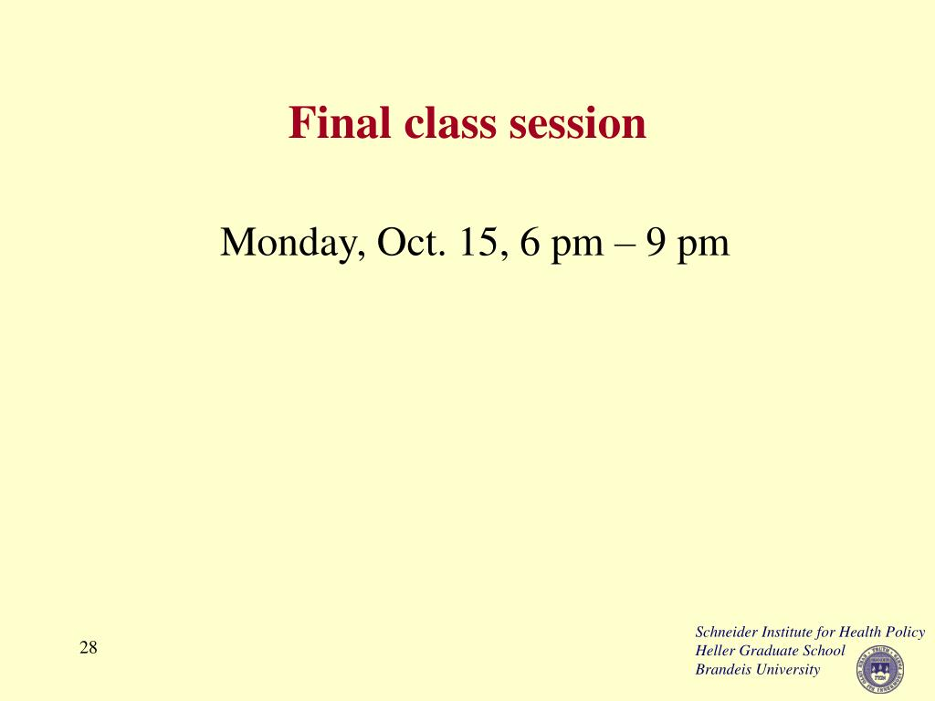 Final class session