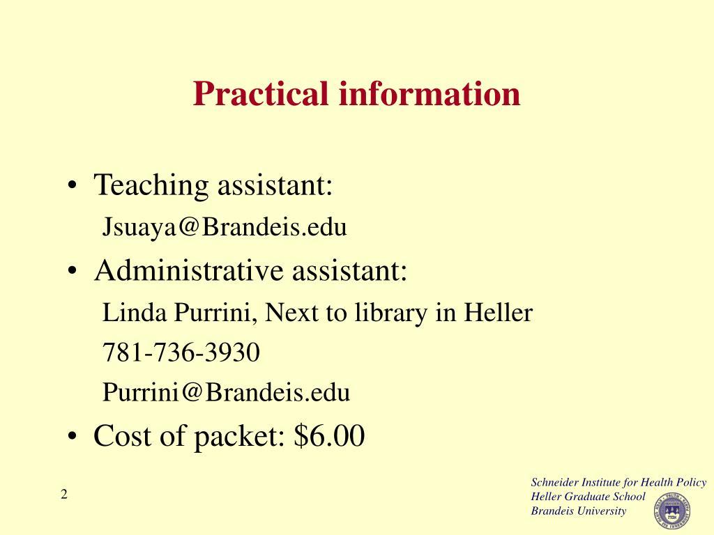 Practical information