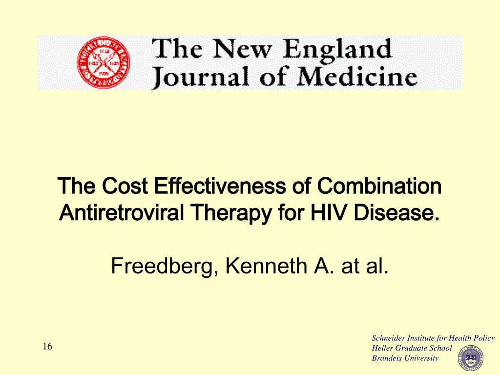The Cost Effectiveness of Combination Antiretroviral Therapy for HIV Disease.