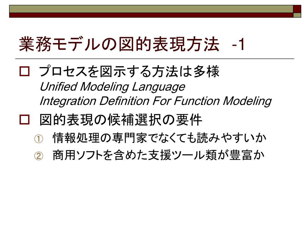 業務モデルの図的表現方法