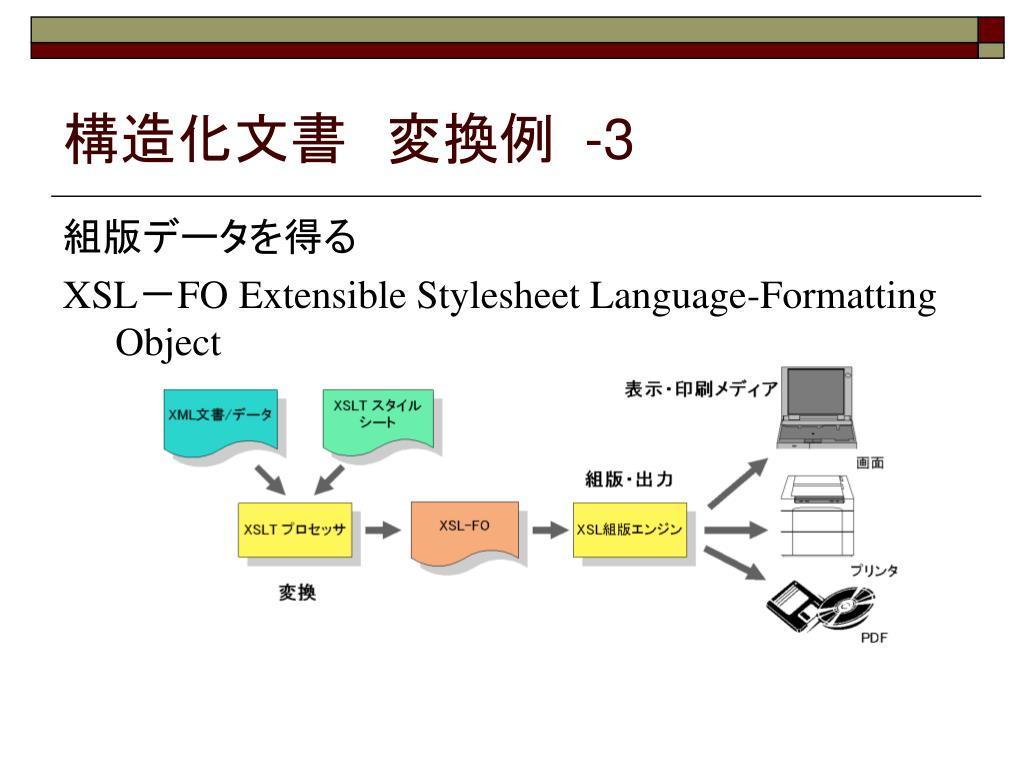 構造化文書 変換例