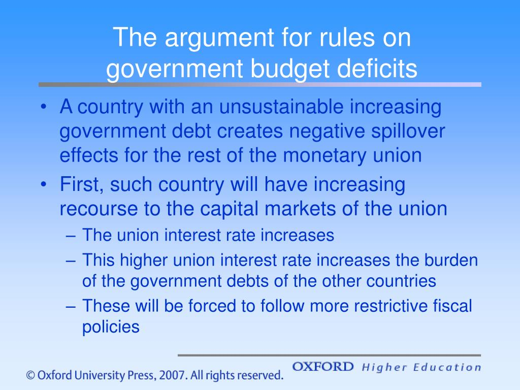 The argument for rules on government budget deficits