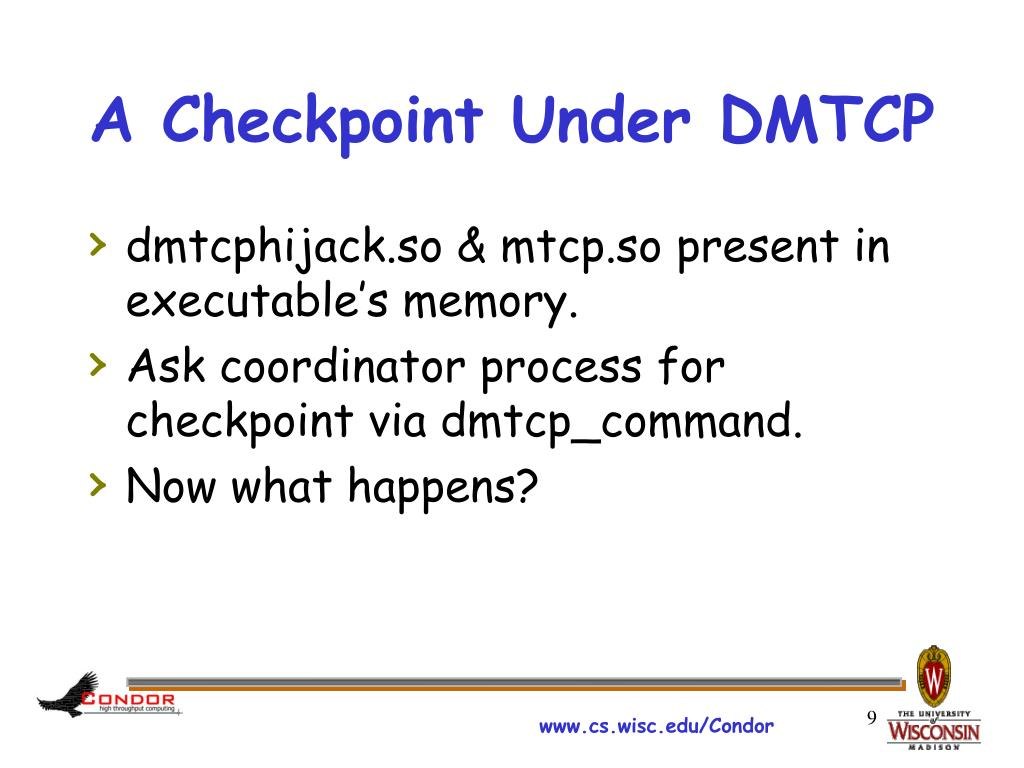 A Checkpoint Under DMTCP