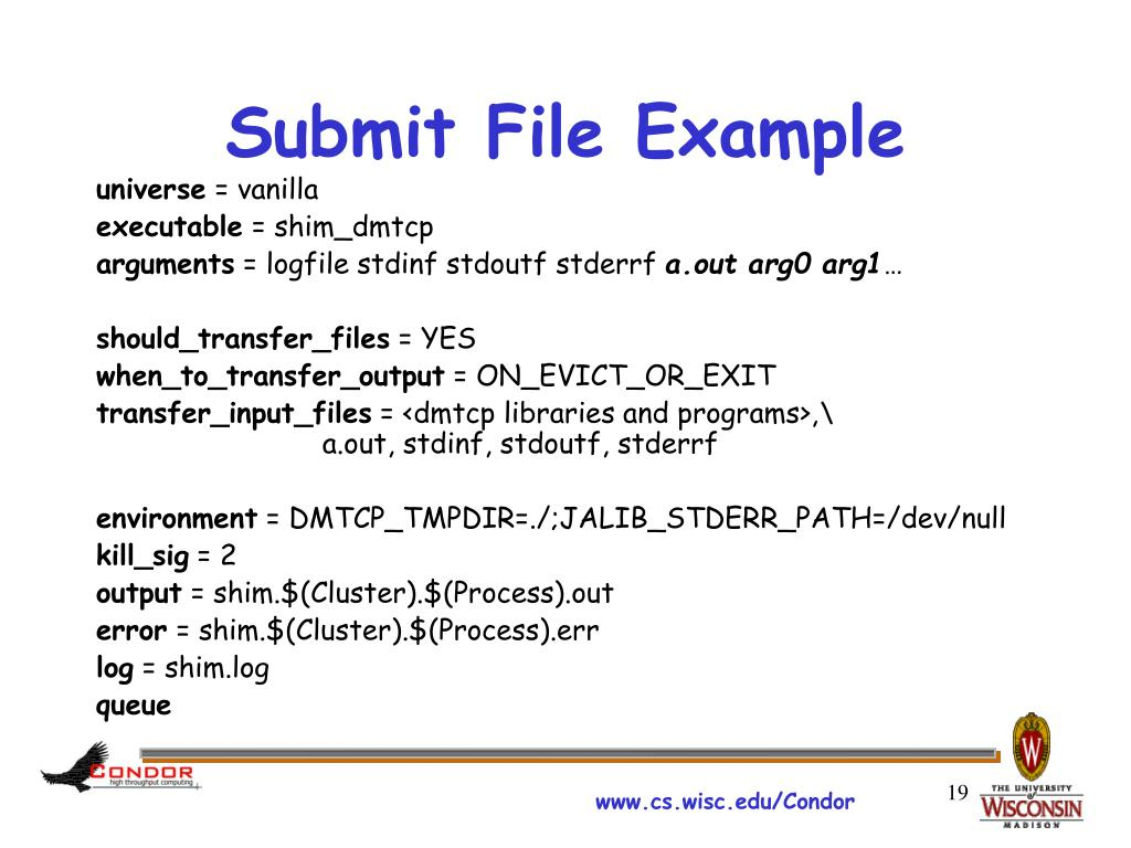 Submit File Example