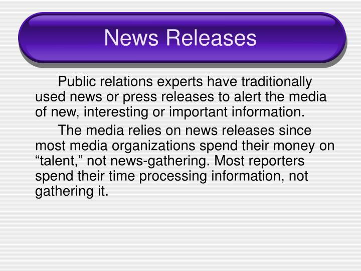 News Releases