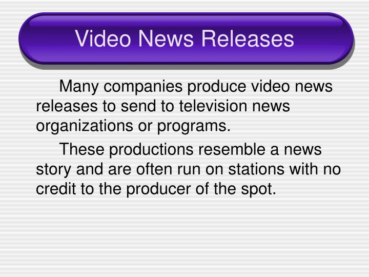 Video News Releases