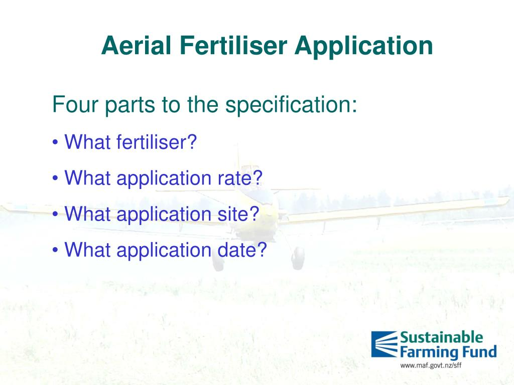 Aerial Fertiliser Application