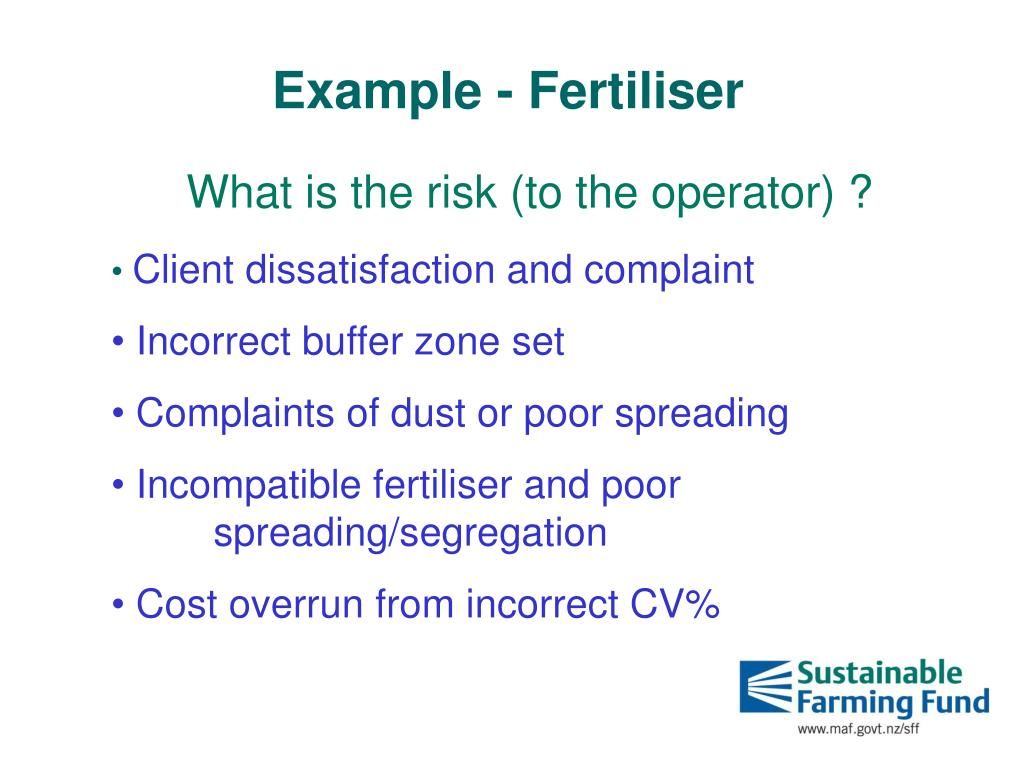 Example - Fertiliser