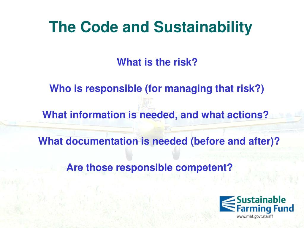 The Code and Sustainability