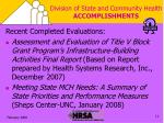division of state and community health accomplishments