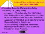 division of state and community health accomplishments1