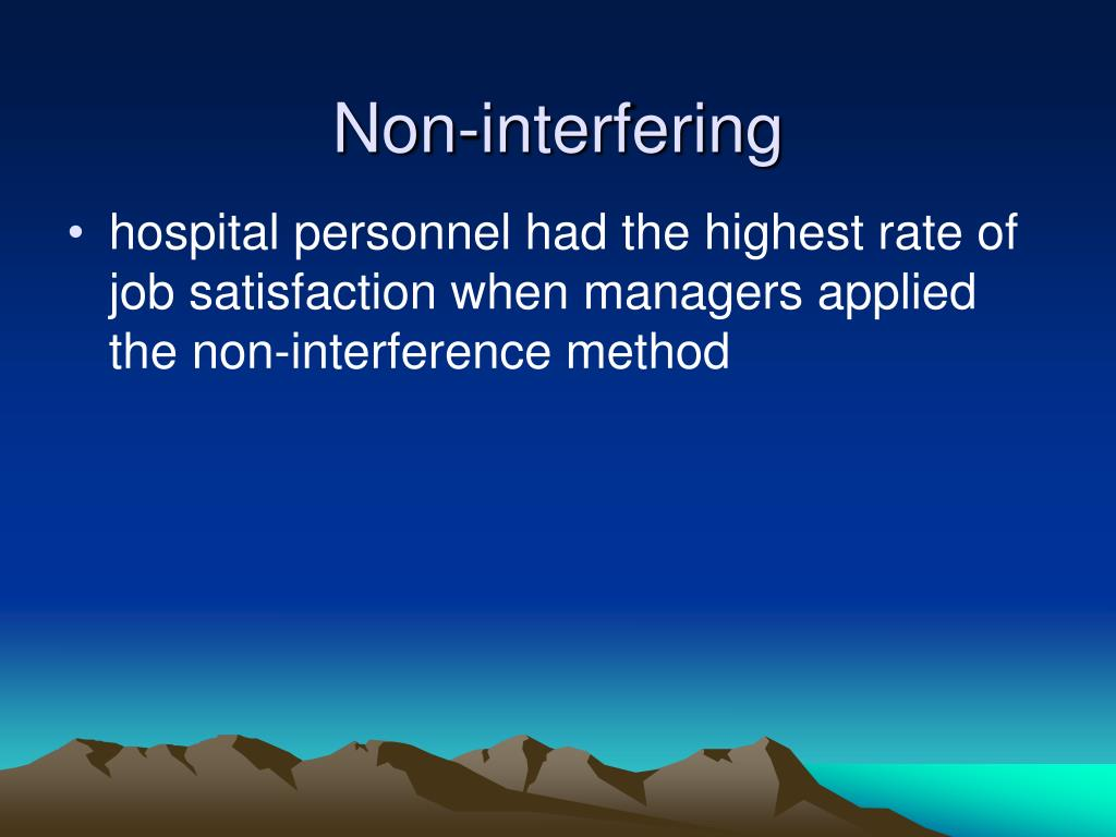Non-interfering