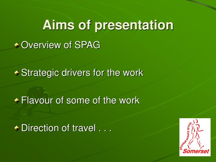 Aims of presentation