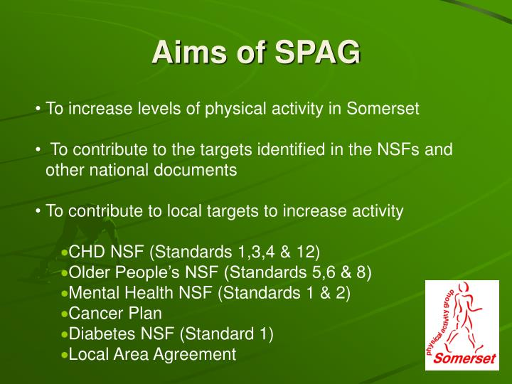 Aims of spag