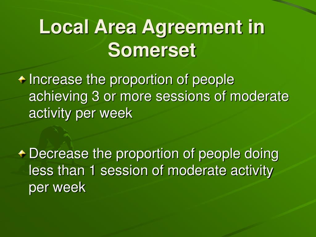 Local Area Agreement in Somerset
