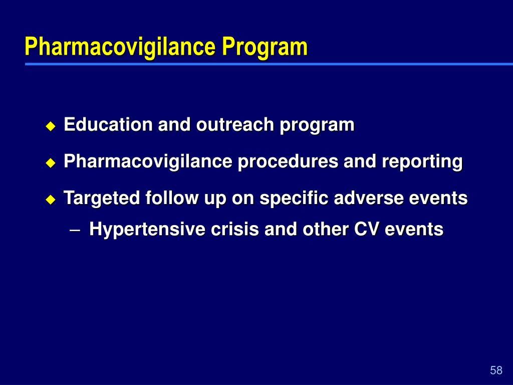 Pharmacovigilance Program