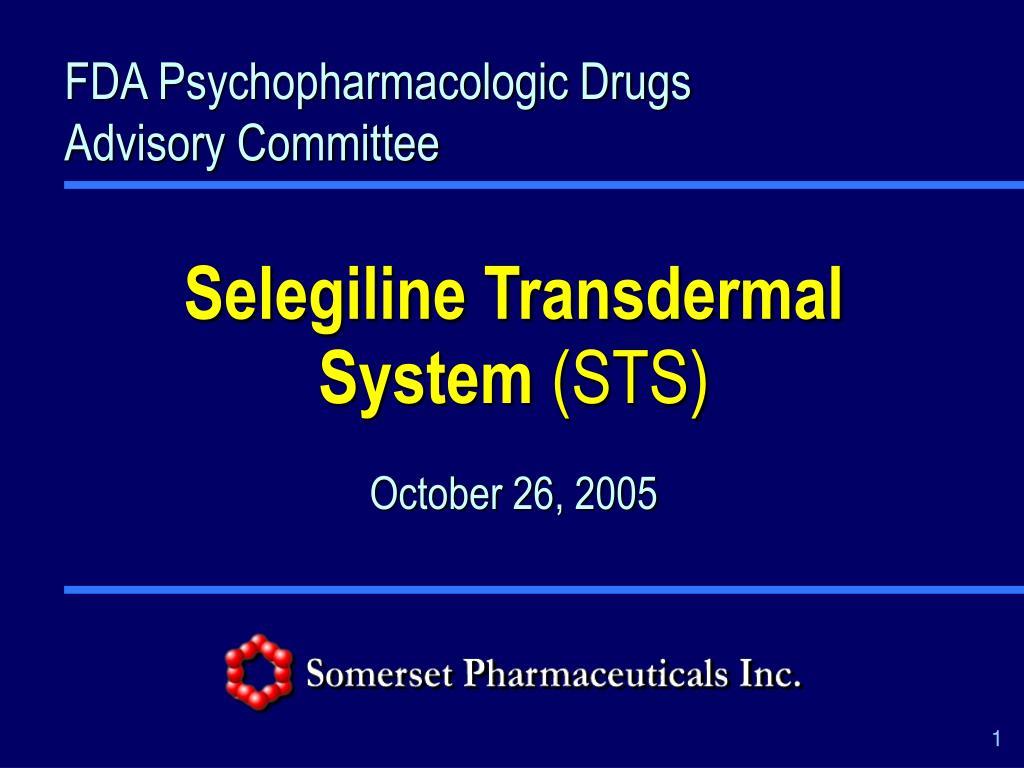 FDA Psychopharmacologic Drugs Advisory Committee