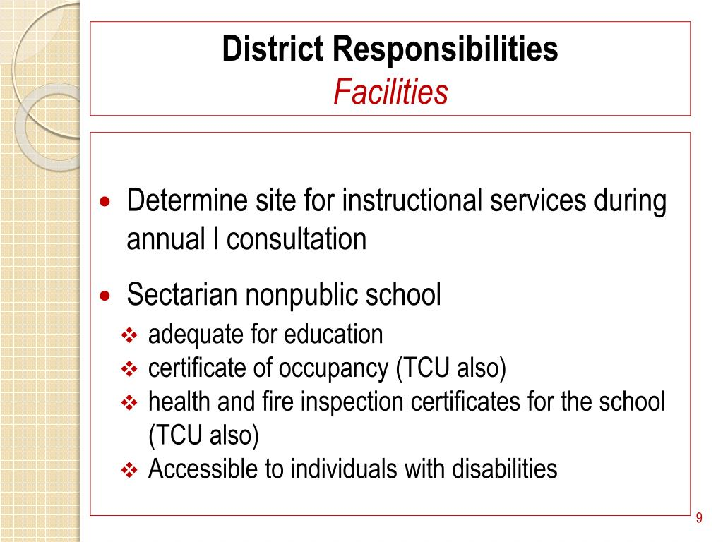 District Responsibilities