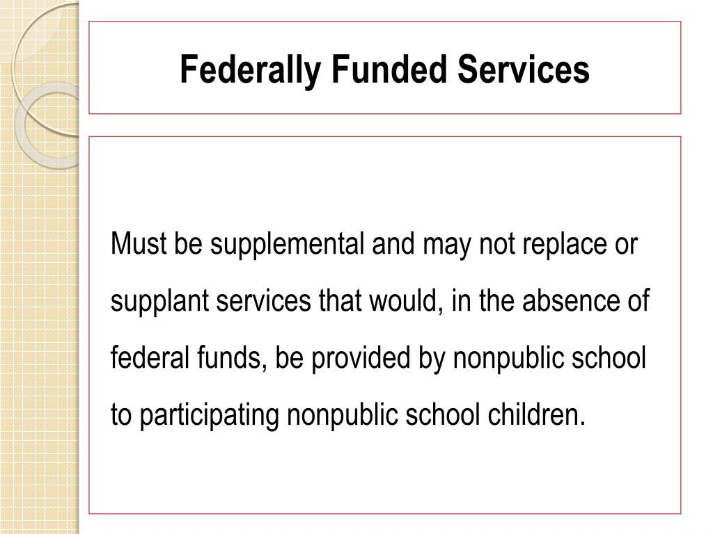 Federally Funded Services