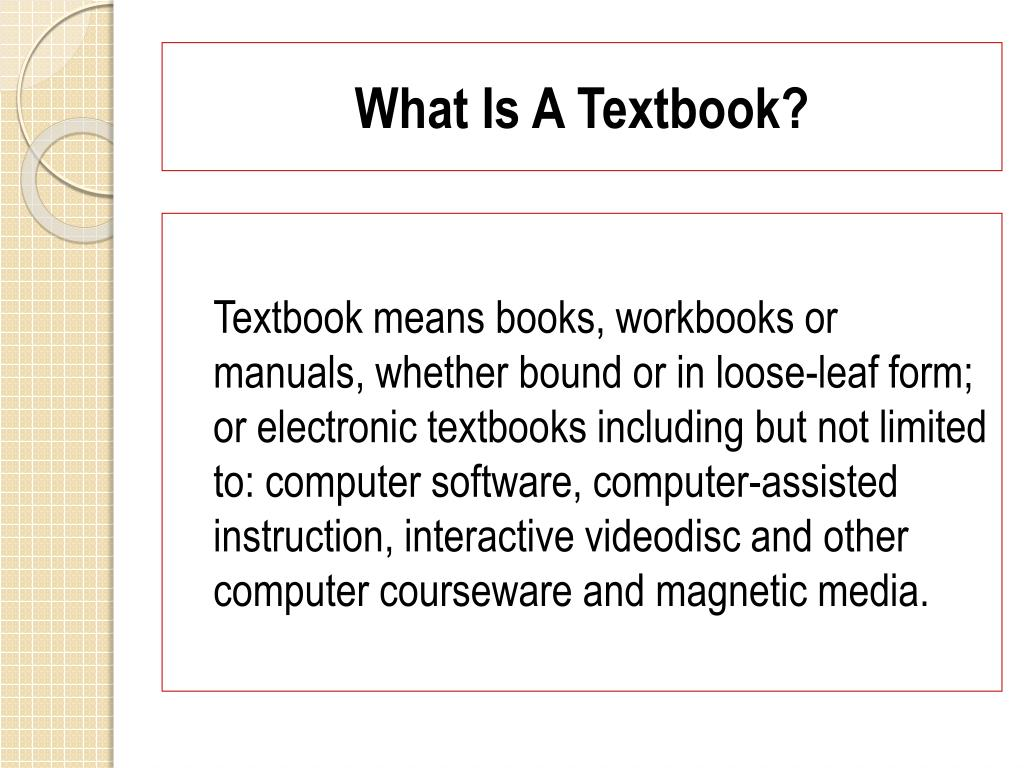 What Is A Textbook?