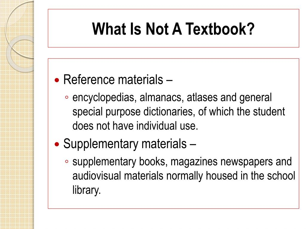 What Is Not A Textbook?