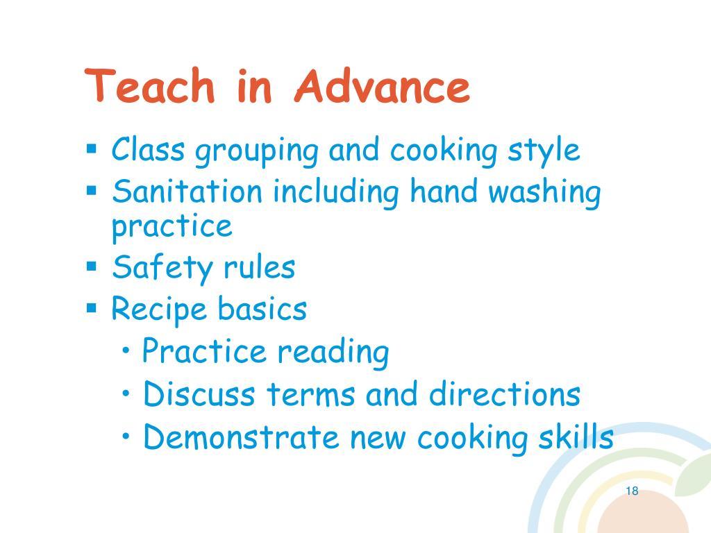 Teach in Advance
