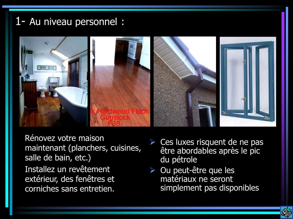 Rénovez votre maison maintenant (planchers, cuisines, salle de bain, etc.)