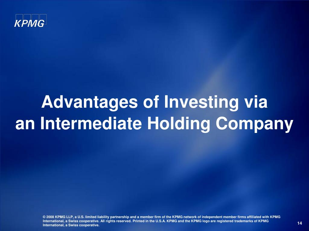 Advantages of Investing via